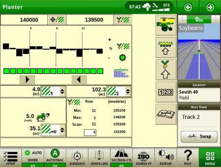 Section Control on SeedStar™ 2 planter