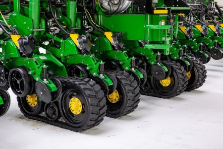 John Deere factory- installed tracks on a 24-row 1775NT Planter