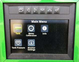 Main menu on the C650 Air Cart side display