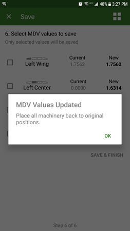 MDV values are updated