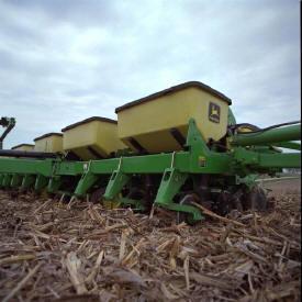 Dry fertilizer attachment