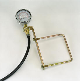 Pressure gauge for liquid fertilizer system
