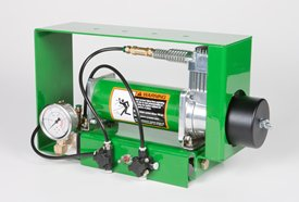 Pneumatic downforce compressor and gauge