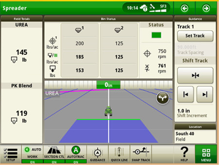 Dry rate controller on New Leader® DS35 Spreader