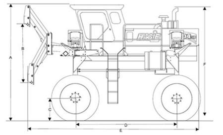 Lift arm range of 167.6 cm (66 in.)
