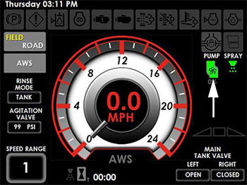 Solution pump indicator