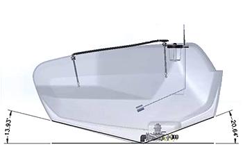 Solution tank drain grade