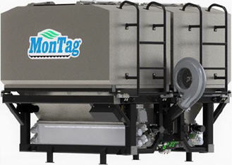 Montag cover crop system with two bins