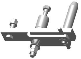 RE39830 offset drawbar clevis kit