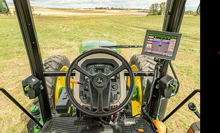 Gen 4 display in the tractor cab