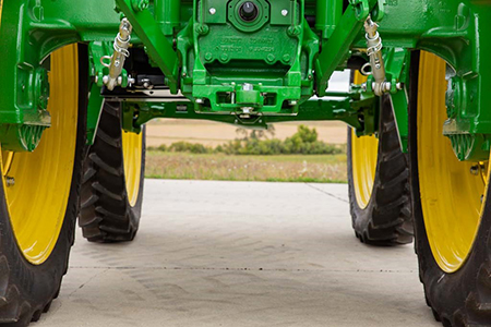 Tread spacing on 6EH Tractor