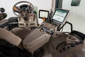 Cab and controls of 6R Tractor