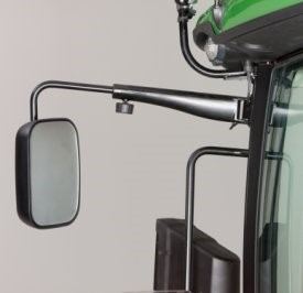 Manually adjustable, single pane mirrors