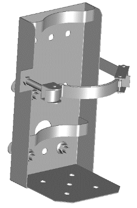 Fire extinguisher mounting bracket