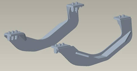 Front supports (9R Wheel Tractor)