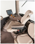 40-degree seat swivel shown