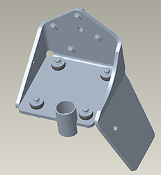 Two-track mounting bracket