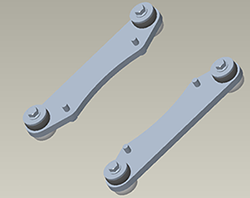 Wheel and four-track mounting bracket