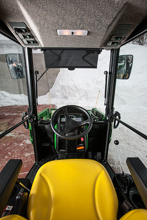 Operator view from inside the cab