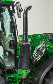 SCR location on the 5R Tractor
