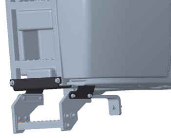 Bottom step shown in factory-installed position