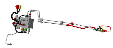 BRE10410 hydraulic trailer brake kit shown
