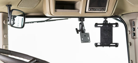 R558980 mounting rail (shown with additional accessories for monitor and tablet)