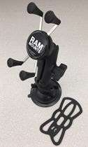 BXE10606 locking suction mount cell phone assembly
