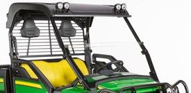 Abrasion-resistant half windshield