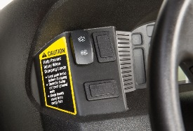 Backlit dash-mounted switch for easy operation
