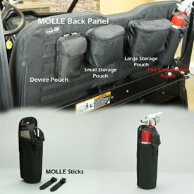 MOLLE fire extinguisher pouch - black