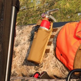 MOLLE fire extinguisher pouch - coyote brown
