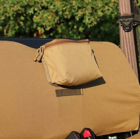 MOLLE large storage pouch - brown