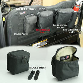 MOLLE small storage pouch - black