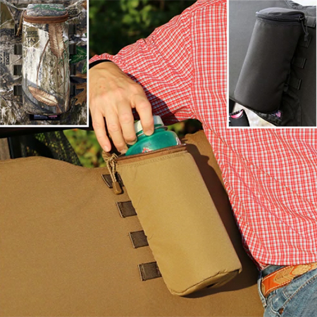 Water bottle pouch with three color options