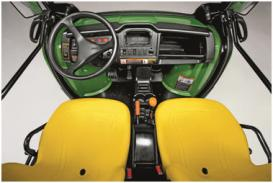 Operator's station with 457-mm (18-in.) high-back bucket seats