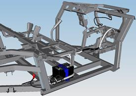 Chassis with prewiring for winch