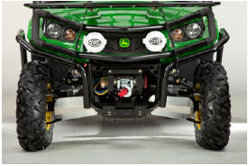 Shown on Gator™ XUV 550 with optional front brushguard and HELLA® performance spotlights