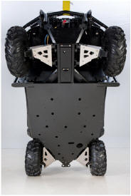 Bottom view of skid plate