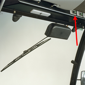 Overhead-mounted on/off rocker switch