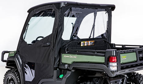Canvas rear panel (shown with poly roof and canvas doors – sold separately)