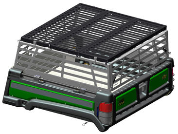 Cargo box side extensions cover
