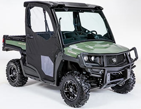 Canvas cab doors (shown with poly roof, canvas rear panel, and glass windshield – sold separately)