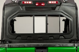 Occupant protective structure (OPS) rear panel (shown with poly roof, deluxe light kit, rear-mounted mid-range light kit)