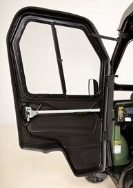Inside of poly cab door