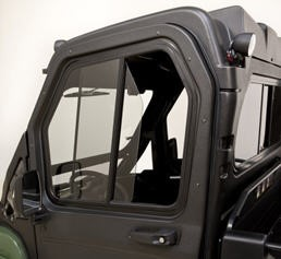 Poly cab doors (shown with glass windshield, poly roof, and rear panel)