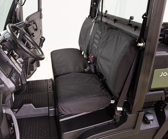 Bench seat cover (shown in black)
