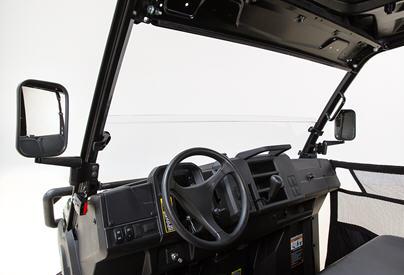 Poly half windshield