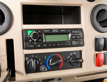 Head unit (sold separately) installed