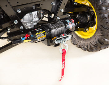 2041.2-kg (4500-lb) winch (mounted on rear receiver)